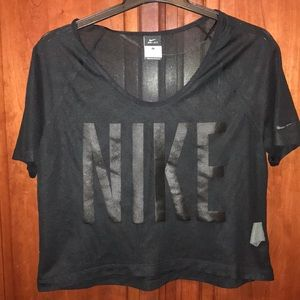 Never been worn black mesh Nike Dri-Fit Crop Top